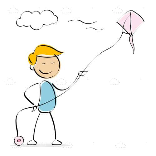 Cartoon Kite Flying