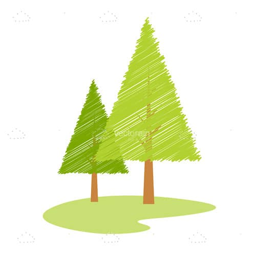 Vector Abstract Pine Trees