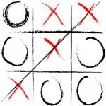 Illustrated Tic-Tac-Toe Board