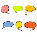 Colorful Speech Bubbles in Different Shapes