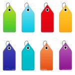 Colourful Vector Tags 8 Pack