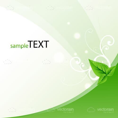 Ecology Style Vector Template