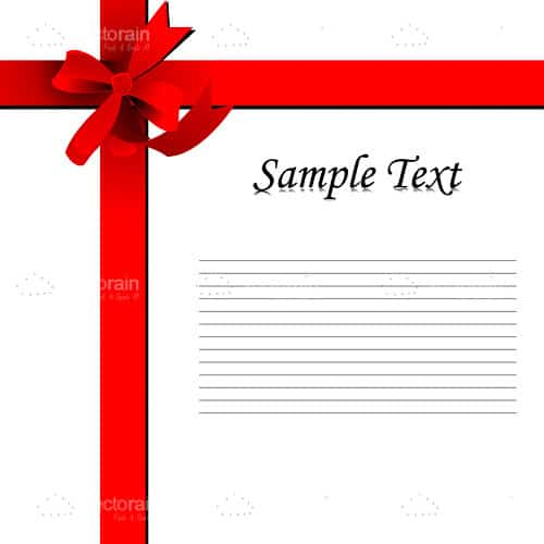 Wrapped ribbon with text template