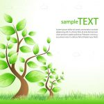 Abstract Trees Background with Sample Text