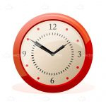 Orange Retro Wall Clock Illustration
