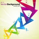 Abstract Colourful Triangles Background with Sample Text