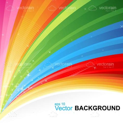 Colouful Rainbow Background with Sample Text