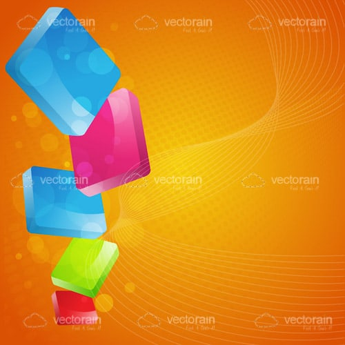 Abstract Background with Colorful Blocks Pile