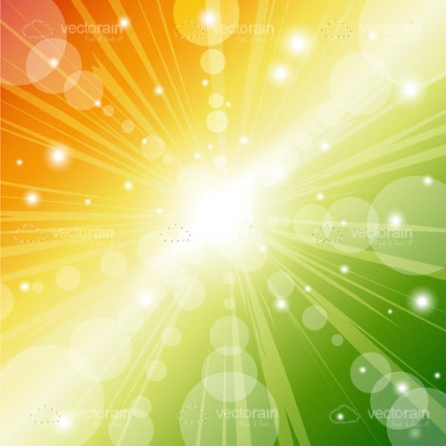 Colorful Bokeh Background with Sparkles