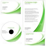 Business Graphic Set with Abstract Minimalist Template