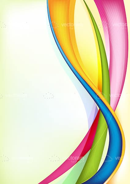 Swirl of Colorful Lines Background