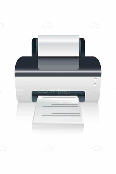 Colour Printer with Document in the Out Tray