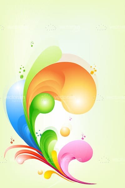 Colourful Splashes Card Background
