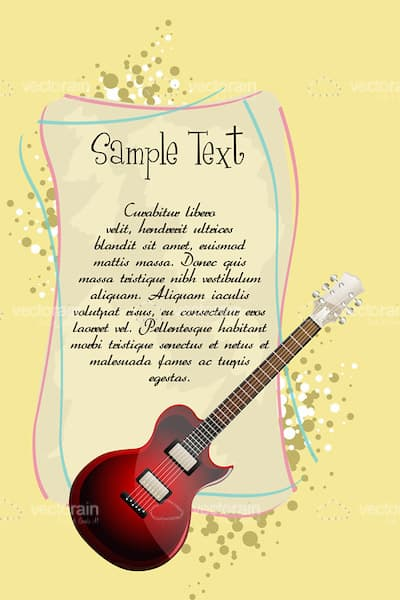 Musical Card Background with Sample Text