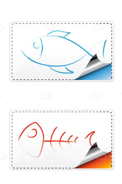 Abstract Fish Stickers