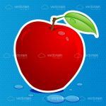 Illustrated Red Apple