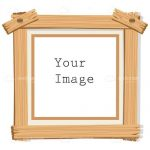 Wooden Photo Frame with Sample Text