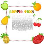 Fruits Frame with Colorful Sample Text