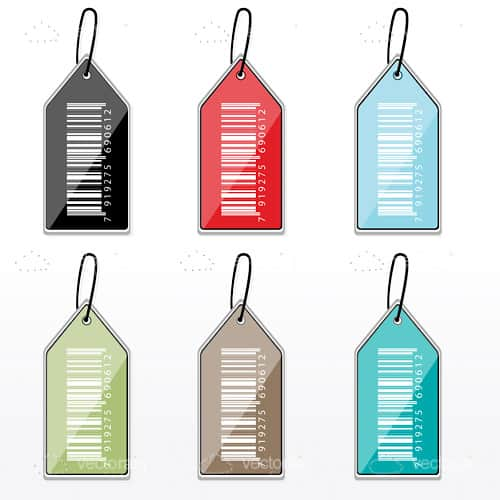 Multicoloured Barcode 6 Pack