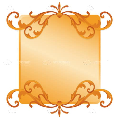 Classic Golden Frame with Floral Pattern