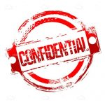 Red Confidential Stamp