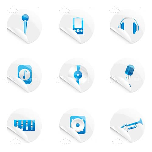 Music Themed Icon Set