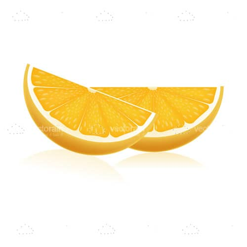 Pair of Delicious Orange Slices