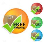 Colourful Free Shipping Icons 4 Pack