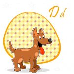 Friendly Smiling Dog with Retro Pattern and Sample Text