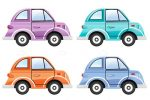Colorful Illustrated Cars Set