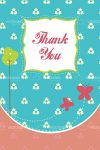 Illustrated Cartoon Thank You Card Design
