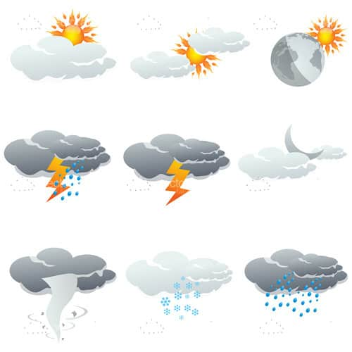 Weather Conditions Icon Set