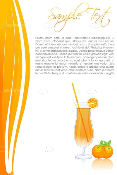 Abstract Orange Juice Background with Sample Text