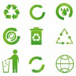 Green Recycling Icon Set