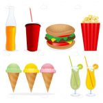 Illustrated Junk Food Items