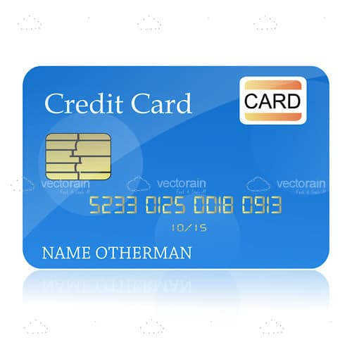 Glossy Credit Card Template
