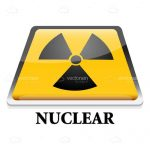 Nuclear Symbol and Text Icon