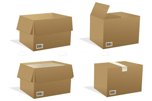 Illustrated Cardboard Boxes
