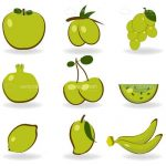 Abstract Fruits Icon Set