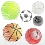 Various Sports Balls Graphic Set