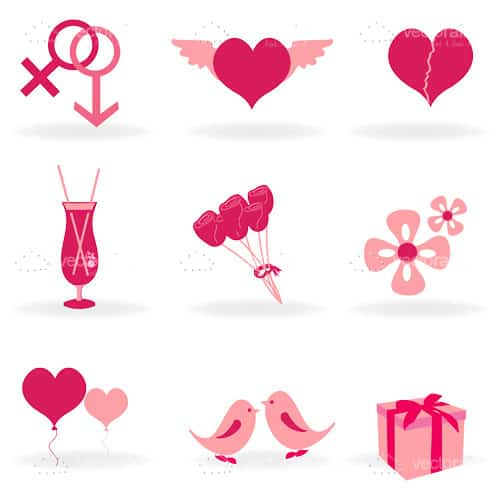 Illustration of love icon