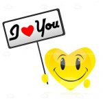 Yellow Heart with I <3 You Sign