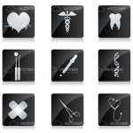 X-Ray Styled Medical Icon Set