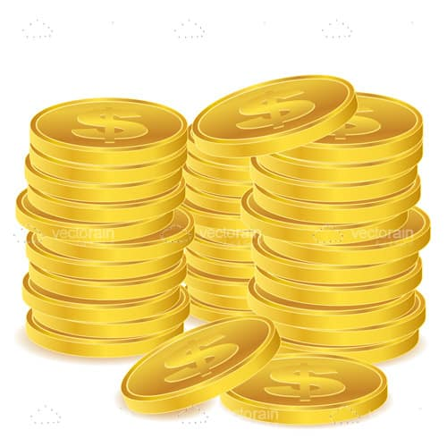 Piles of Golden Coins