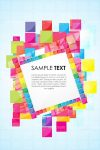 Abstract Colorful Blocks Background with Sample Text