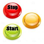 Glossy 3D Buttons with Start and Push Text