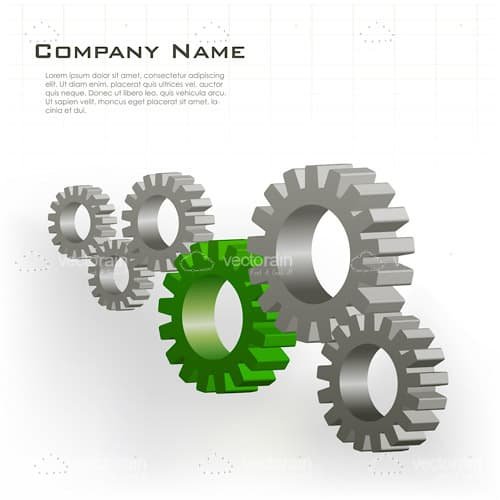 Gears Set with Sample Text