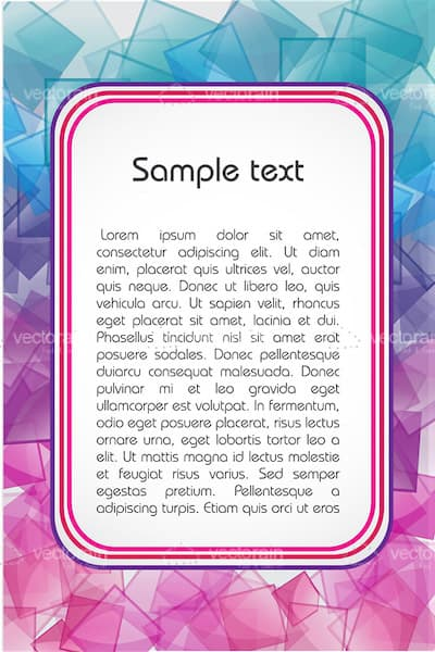 Colourful Cubes Text Frame