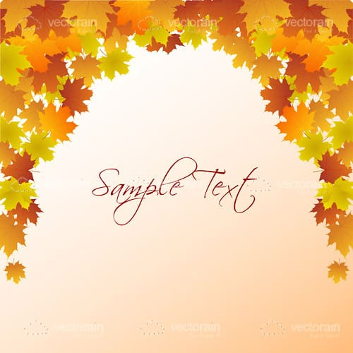 Autumn Themed Background with Maple Leaves and Sample Text