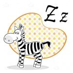 Z for Zebra Vector Icon